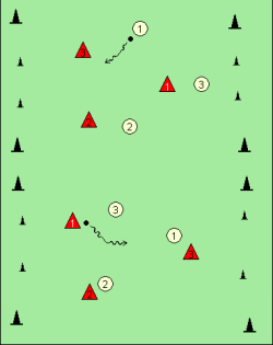 2 small sided 3v3 games.